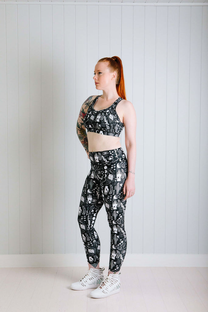Black Alchemy Leggings Nappies Designer Bums