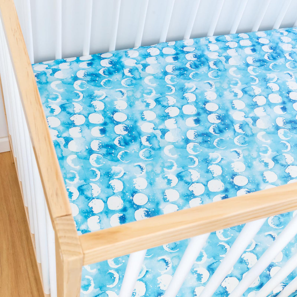 Blue Moon Cot Sheet