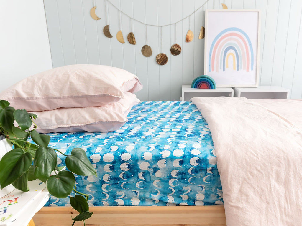Blue Moon Single Bed Sheet