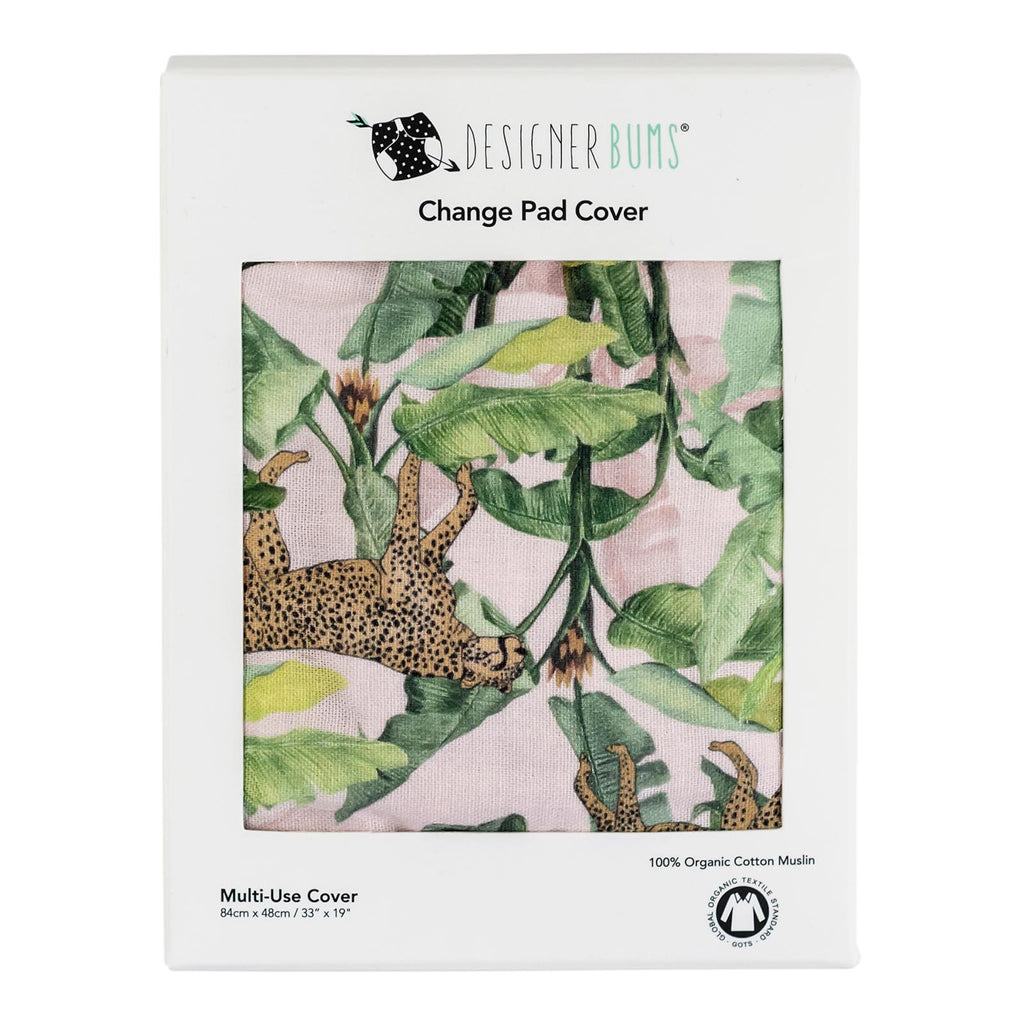 Cheetah Palms Change Pad Cover
