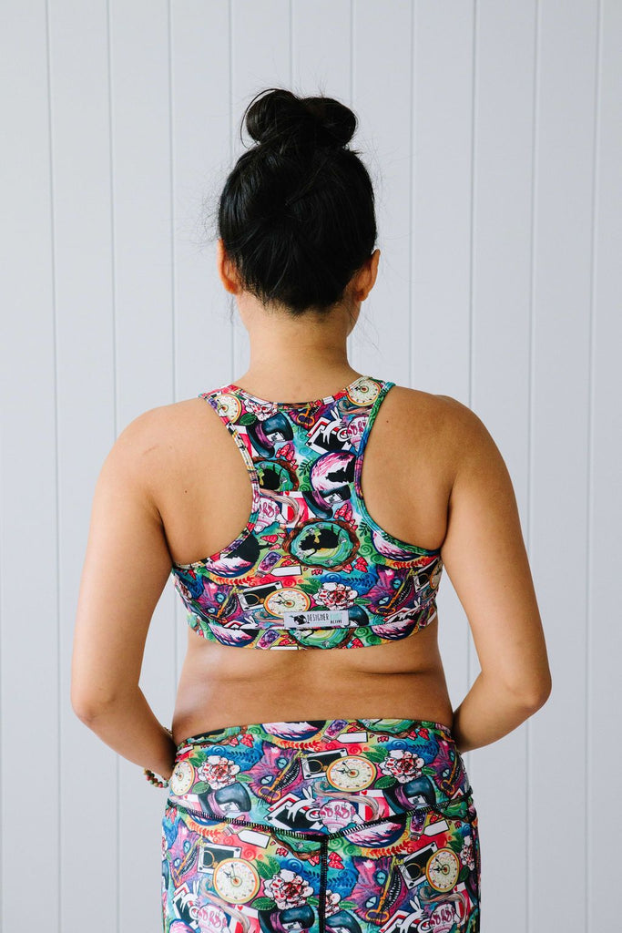 Down The Rabbit Hole Nursing Sports Bra Nappies Designer Bums