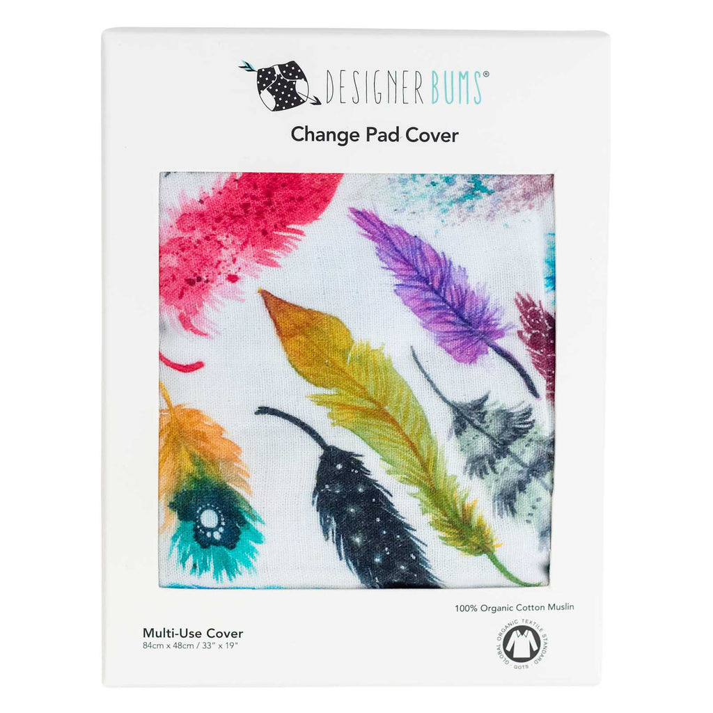 Falling Feathers Change Pad Cover