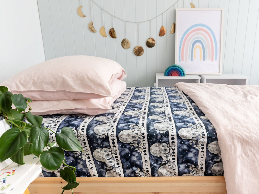 Flower Moon Single Bed Sheet