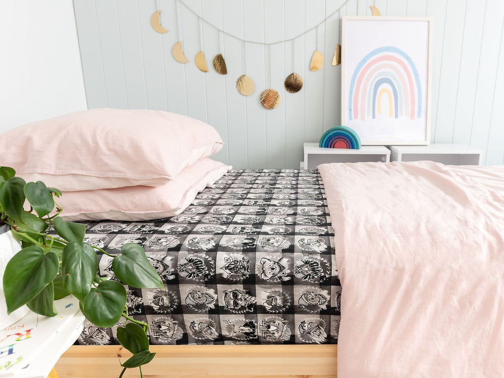 Lumberjack Black Single Bed Sheet