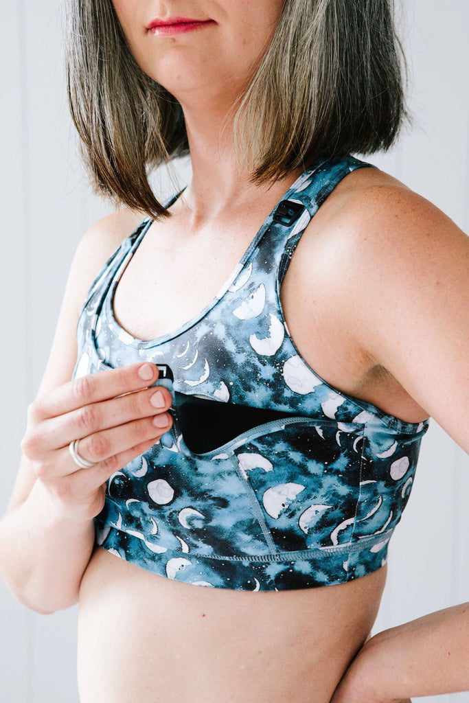 Moon Phases Nursing Sports Bra