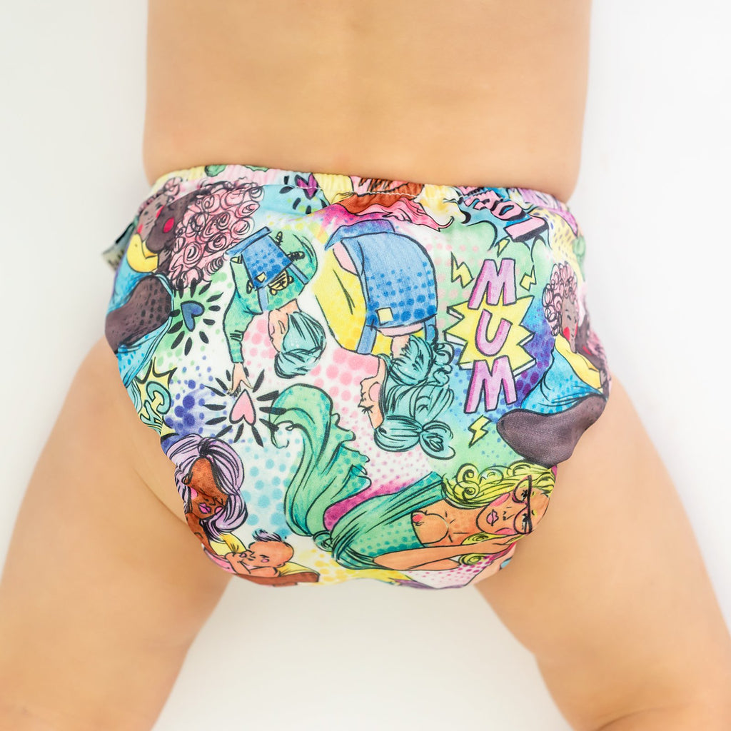 Mum! Love! Carry! Cloth Nappy Nappies Designer Bums