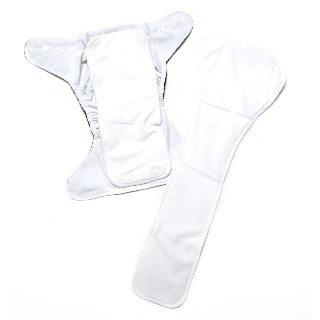 White Woodland Cloth Nappy Nappies Designer Bums