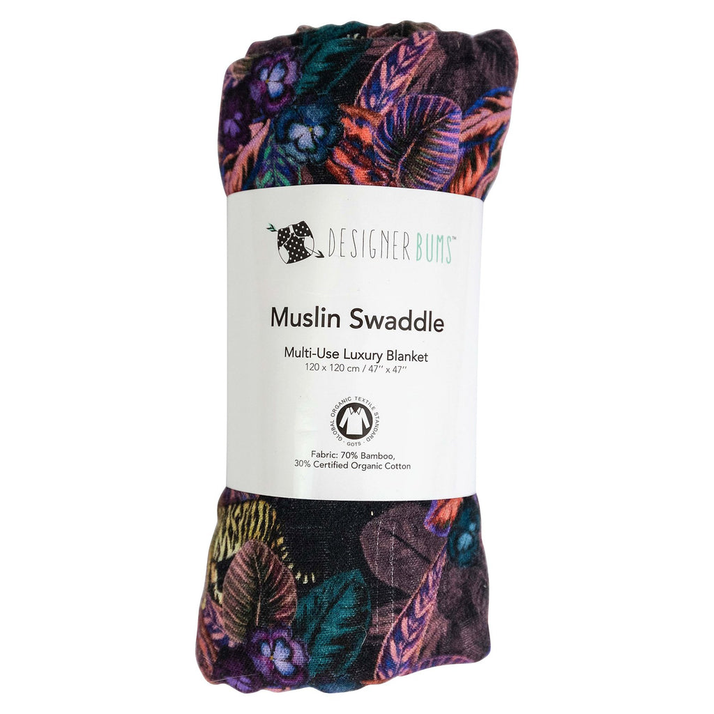 Pansy Jungle Swaddle