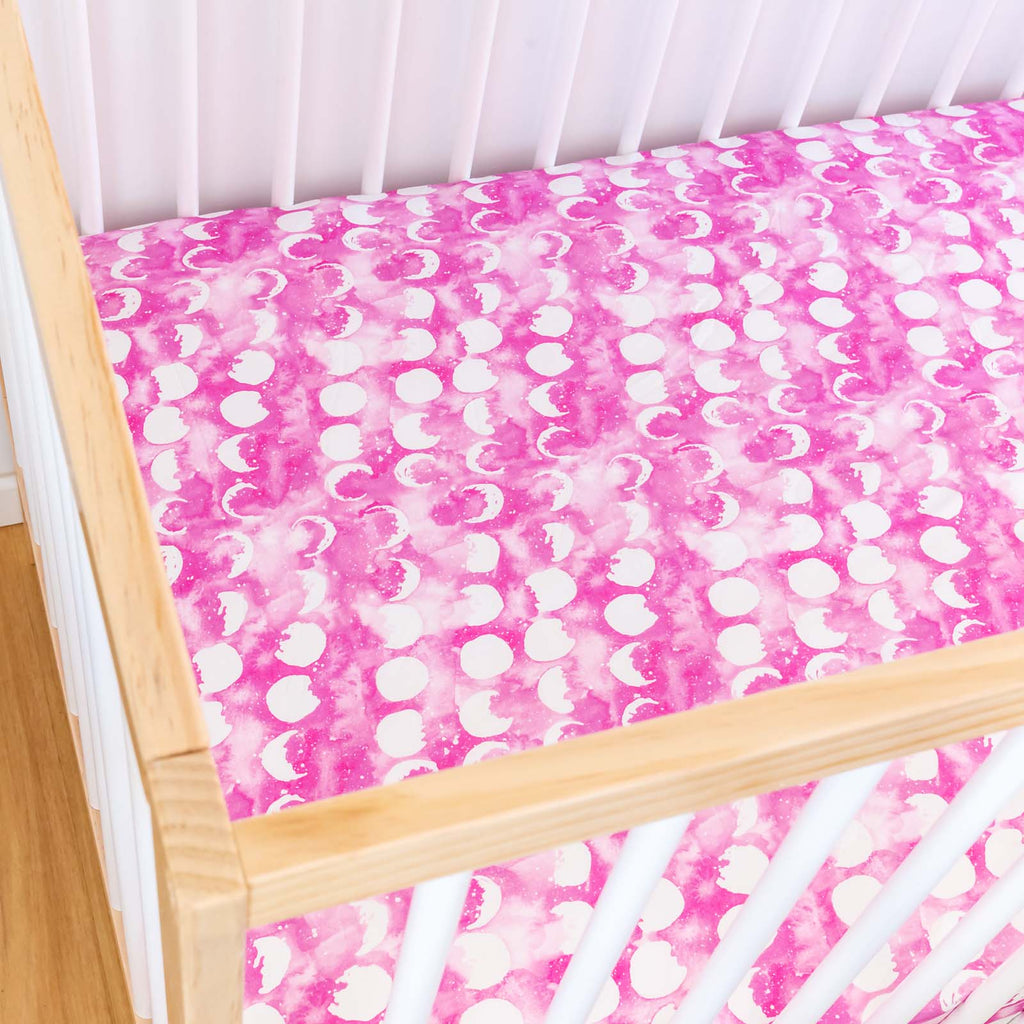 Rose Quartz Moon Cot Sheet