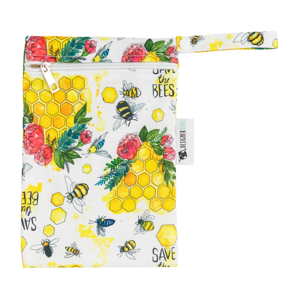 Save The Bees Mini Wet Bag