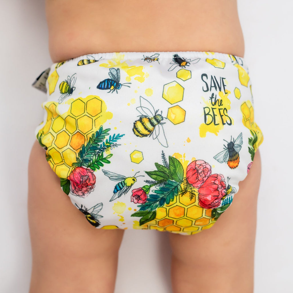 Save The Bees Nappies Designer Bums