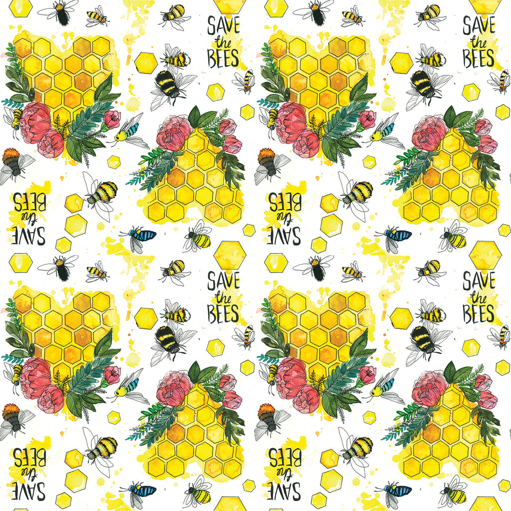 Save The Bees Straw Pouch Nappies Designer Bums