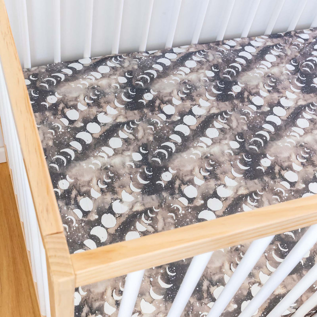 Smoky Quartz Moon Cot Sheet