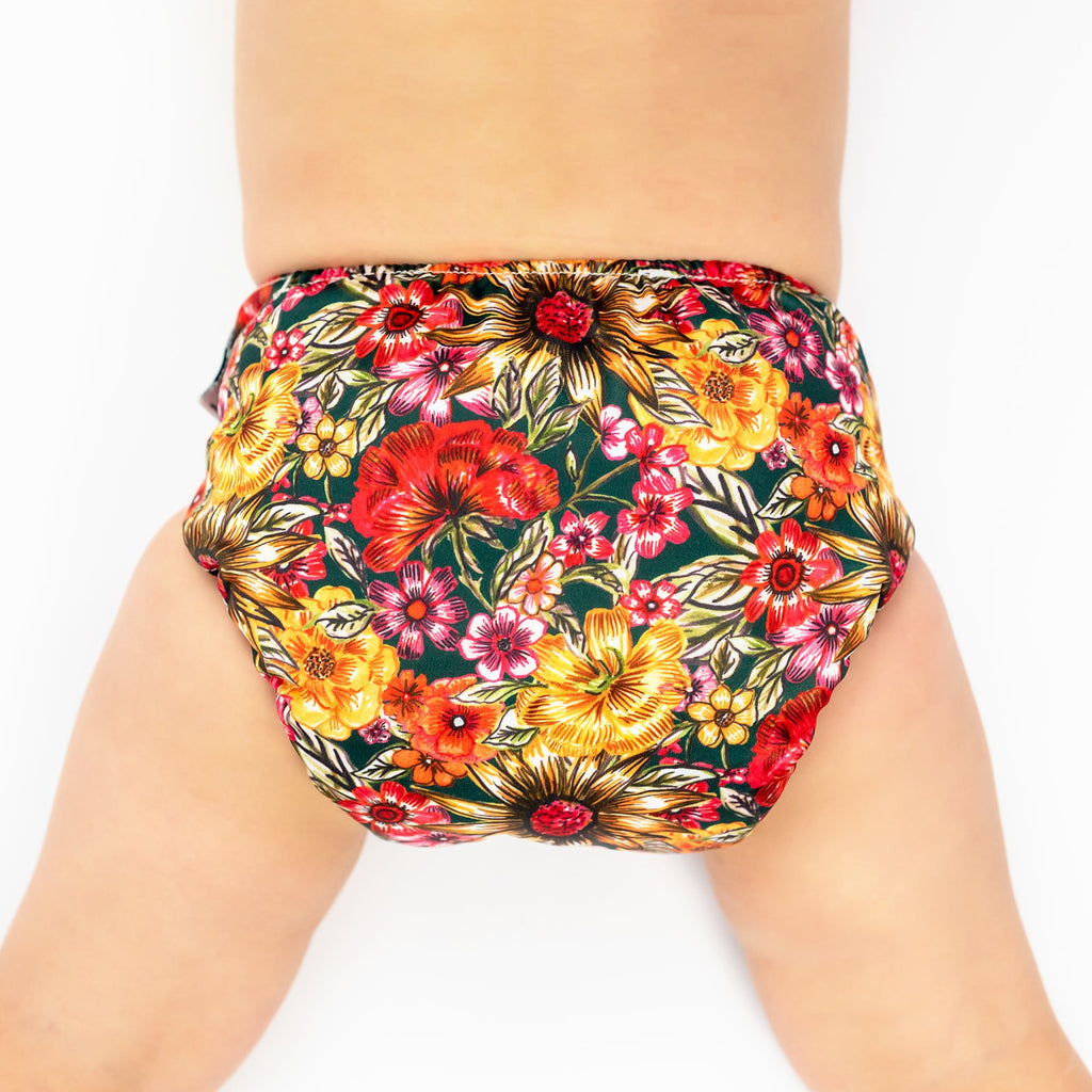 Vintage Garden Cloth Nappy Nappies Designer Bums