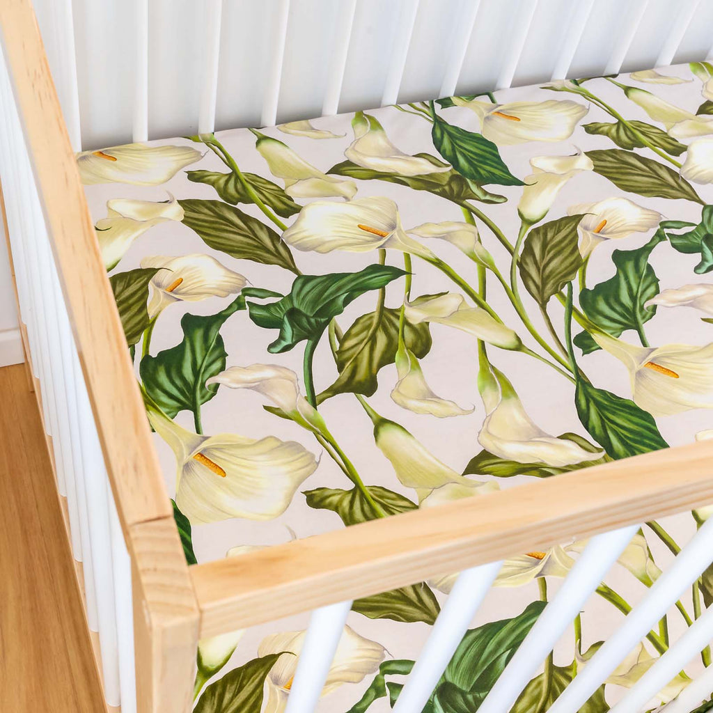 White Light Cot Sheet