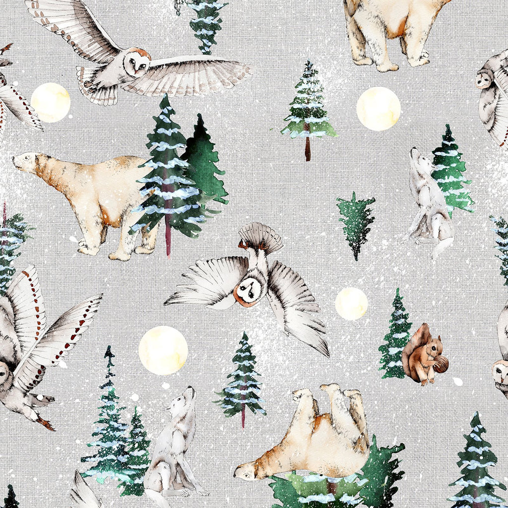 White Woodland Change Mat