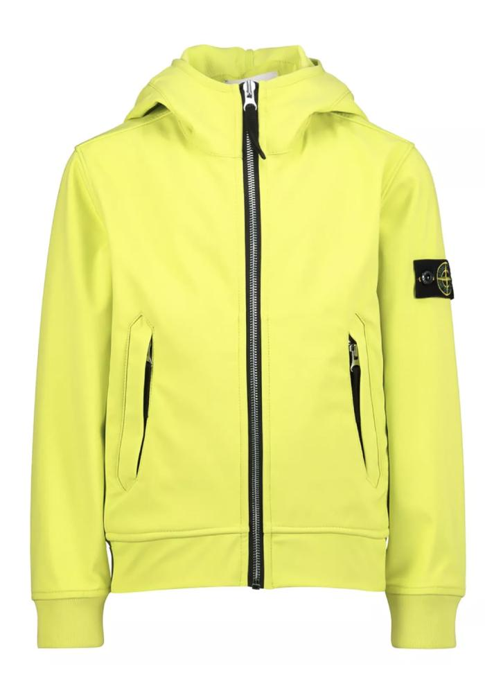 Stone Island Junior Soft Shell Jacket In Lemon - 40134