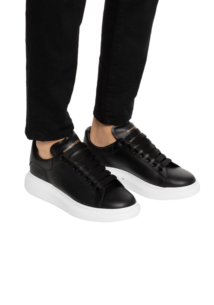 Alexander McQueen Oversized Trainers In Black/Black/White
