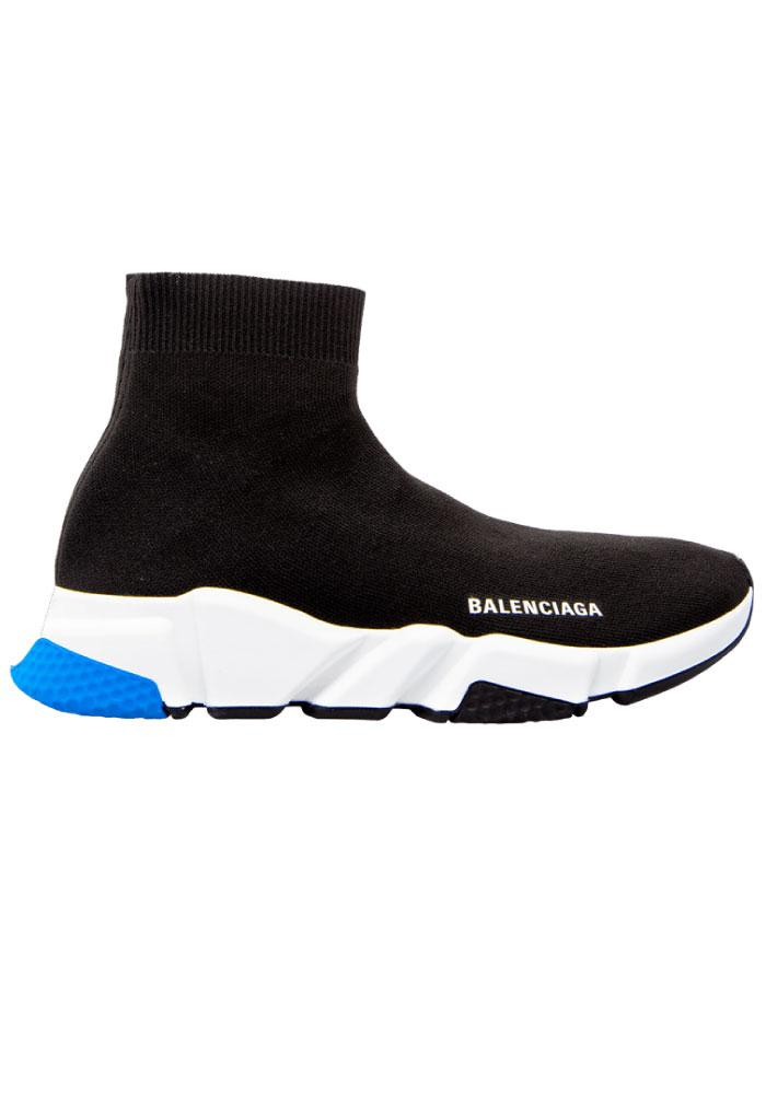 Balenciaga Speed Sock Trainers in Black/White/Green