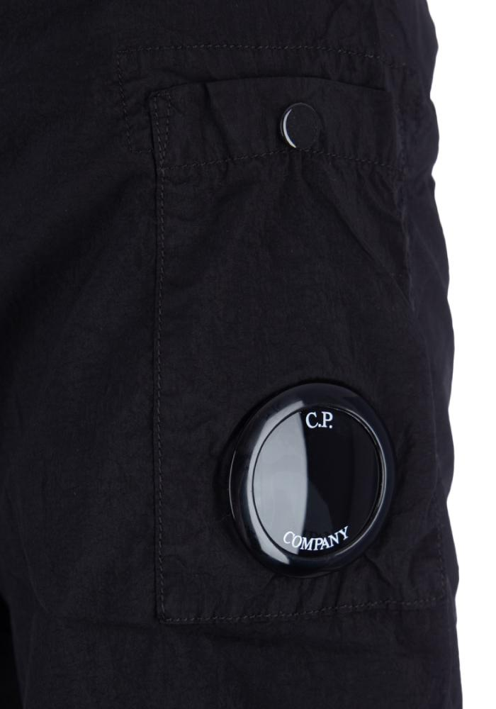 C.P. Company Chrome Nylon Lens Viewer Overshirt In Black