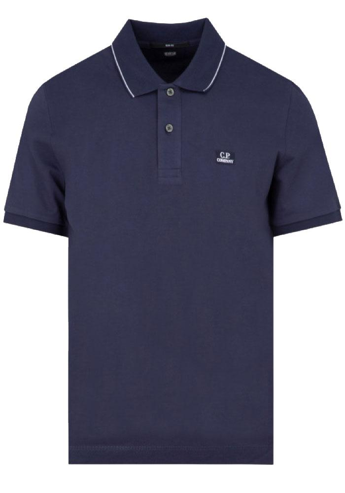 C.P. Company Slim Fit Polo In Navy