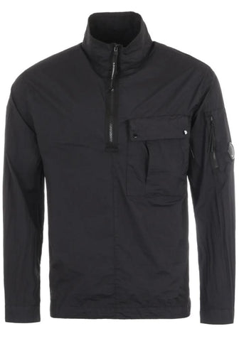 C.P. Company Taylon L Quarter-Zip Overshirt In Black
