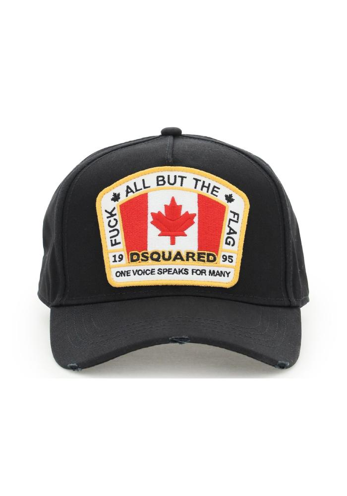 Dsquared2 All But The Flag Logo Cap In Black