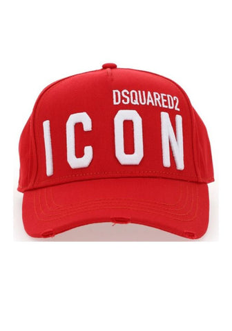 Dsquared2 ICON Logo Baseball Cap In Red