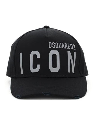 Dsquared2 Reflective ICON Logo Baseball Cap In Black