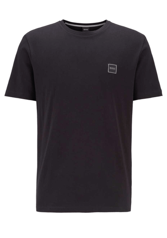 Hugo Boss Logo Patch Crewneck T-Shirt In Black