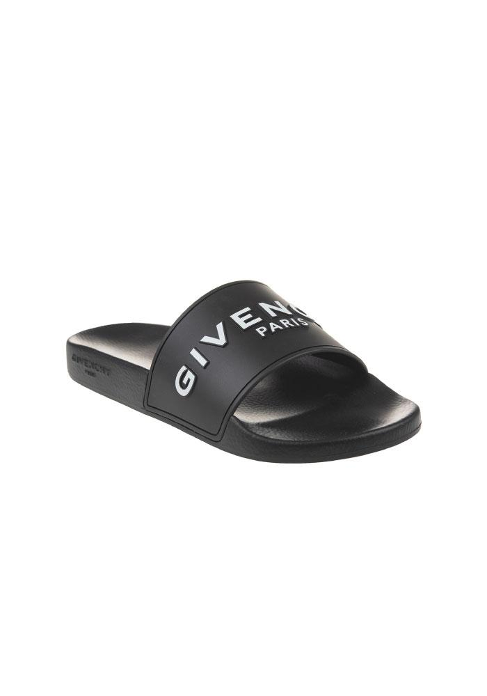 Givenchy Logo Sliders In Black