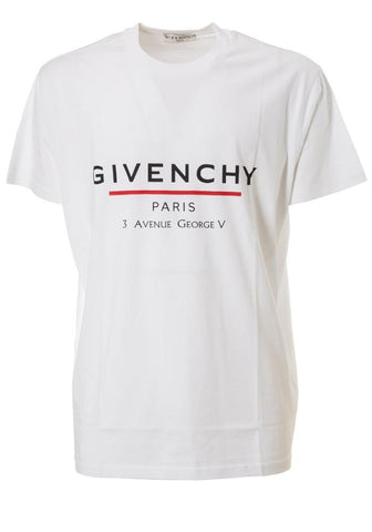 Givenchy Paris Oversized Address T-Shirt in White