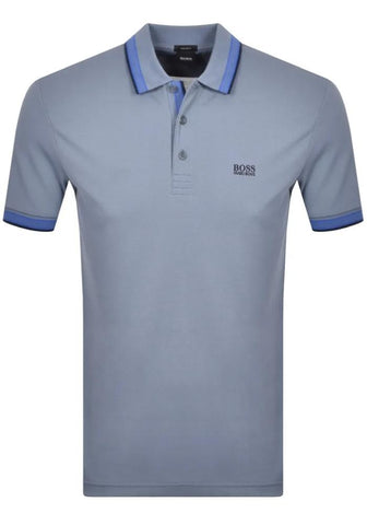 Hugo Boss Paddy Polo In Avio Blue