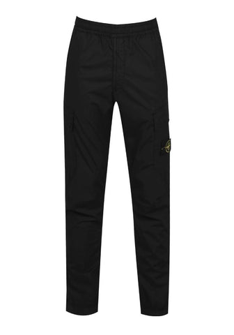 Stone Island Cargo Trousers In Black
