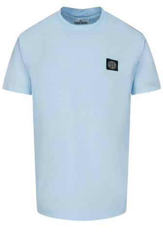 Stone Island Compass Patch T-Shirt in Sky Blue - 24113