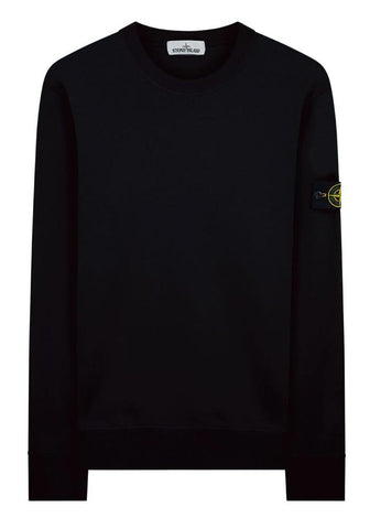 Stone Island Garment Dyed Crewneck Sweatshirt in Black - 63051