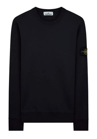 Stone Island Garment Dyed Crewneck Sweatshirt in Navy
