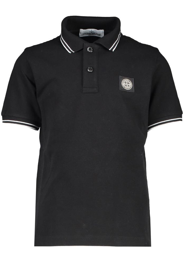 Stone Island Junior Slim Fit Polo in Black - 21348
