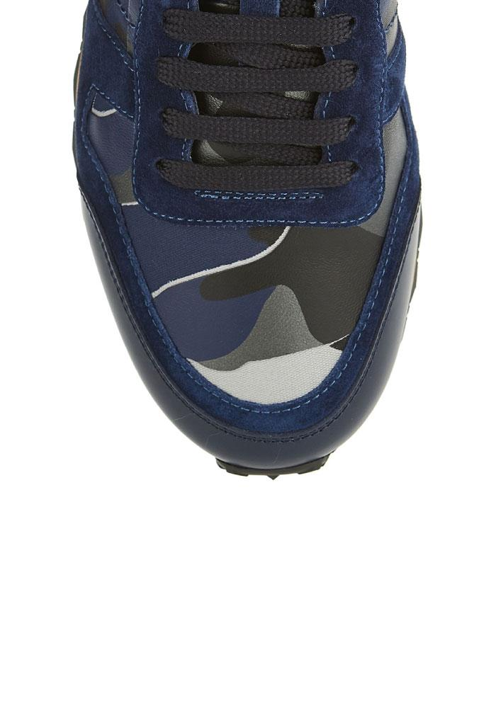 Valentino Rockrunner Camouflage Trainers in Blue
