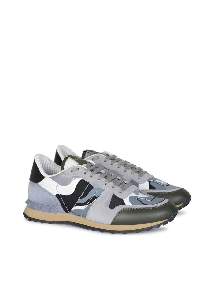 Valentino Rockrunner Camouflage Trainers in Sky Blue