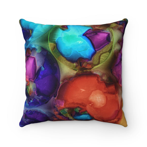 Sea Shells From Mars Spun Polyester Square Throw Pillow - sasyjamdesigns