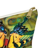 Pale Swallowtail Butterfly On Zinnia Flower Accessory Pouch w T-bottom - sasyjamdesigns