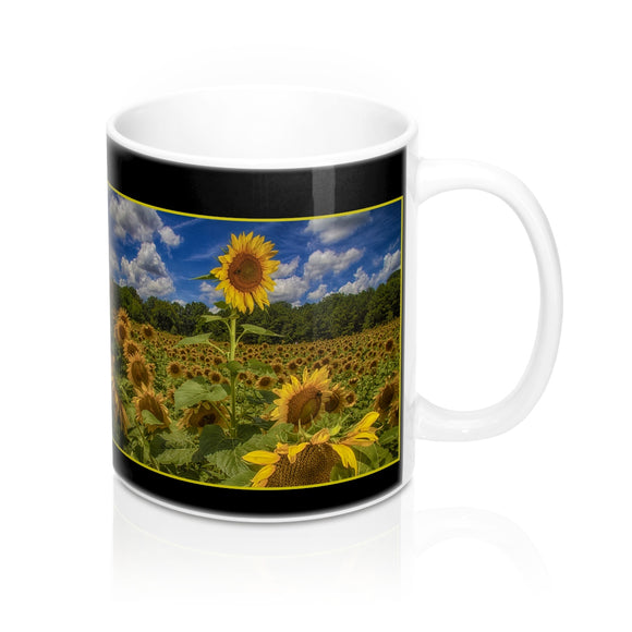 Tall Stem Sunflower Ceramic Mug - sasyjamdesigns