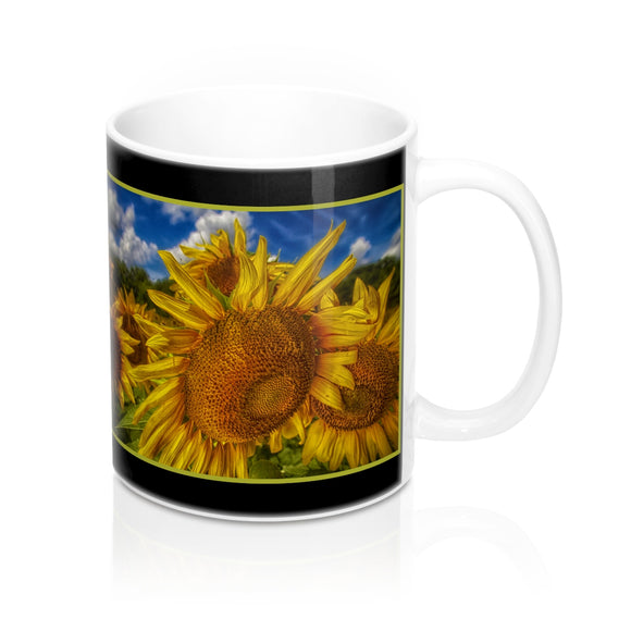 Sunflower Looking Down Ceramic Mug - sasyjamdesigns
