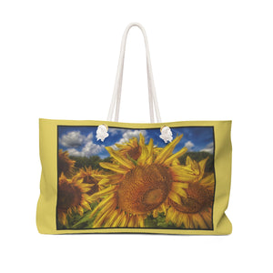 Sunflower Looking Down Weekender Tote Bag - sasyjamdesigns
