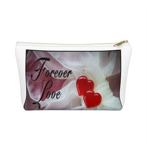 Forever Love T-bottom Accessory Pouch / Makeup Bag - sasyjamdesigns