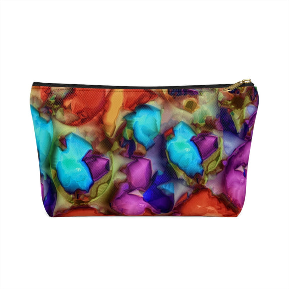 Sea Shells From Mars T-bottom Accessory Pouch / Makeup Bag - sasyjamdesigns