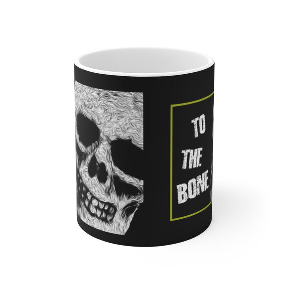 Skull To The Bone White Ceramic Mug - sasyjamdesigns