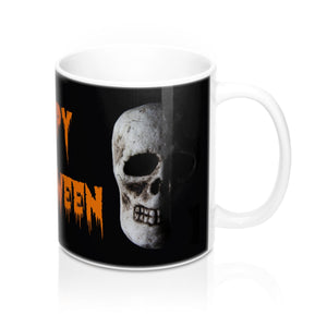 Skull Happy Halloween Ceramic Mug - sasyjamdesigns