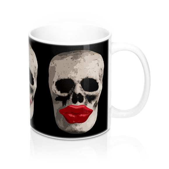 Skull and Lips Ceramic Mug - sasyjamdesigns